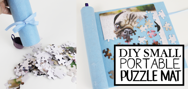 Here's a great upcycle idea for storing and putting together small puzzles. It's a portable puzzle mat and you'll be amazed what it's created from!