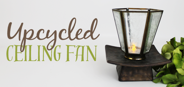 Upcycled Ceiling Fan to Elegant Illuminated Decor