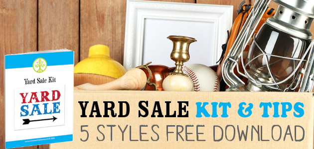 Yard Sale Kit & Tips : Declutter & Profit!