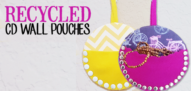 Recycle CDs into Wall Pouches