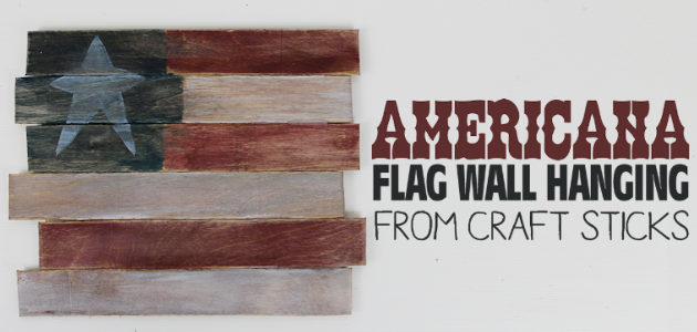 Americana Decor from Craft Sticks