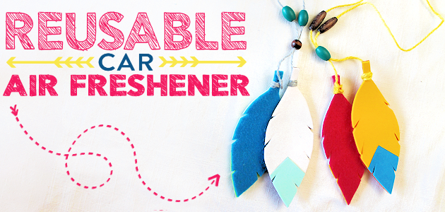How to Make a Colorful Reusable Car Air Freshener!