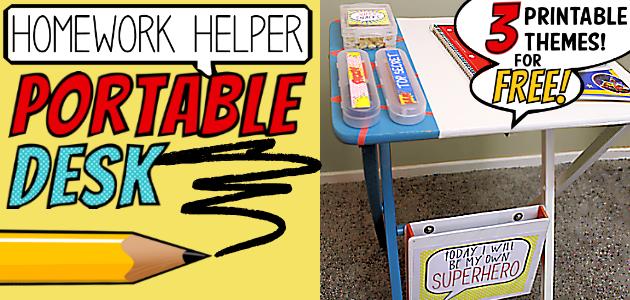 How to Make an Easy Homework Helper Portable Desk