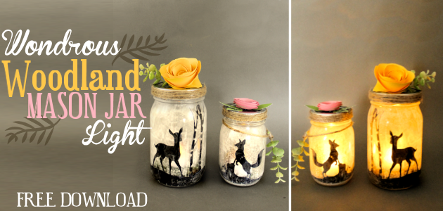 Woodland Mason Jar Light FE