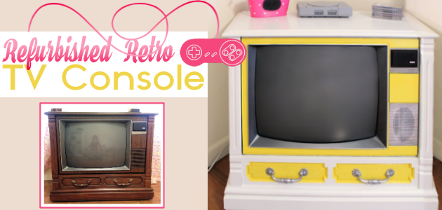 How to Turn a Working Console TV into a Piece of Art!