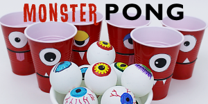 How to Make a Fun Monster Eye Pong Party Game