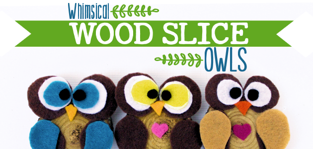 How to Make Simple Wood Slice Owl Decor