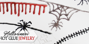 How to Make Simple Creepy Gothic Jewelry with Hot Glue
