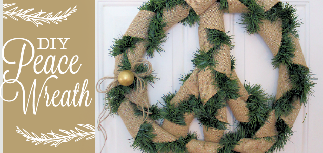 "How to Make a Quick 20"" Christmas Peace Wreath"