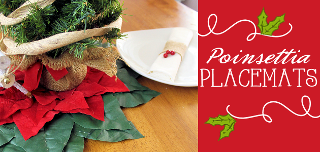 How to Make Quick Elegant Poinsettia Christmas Placemats