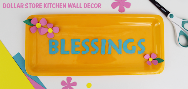 Darling Dollar Store Plastic Plate Kitchen Wall Decor