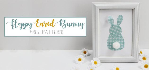 Cute Frameable Floppy Eared Bunny Easter Decorations