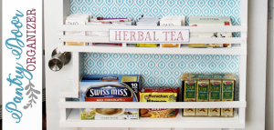 Build your own affordable pantry door organizer with some wood and a few basic tools. It's easier than you think and you'll love the extra storage!