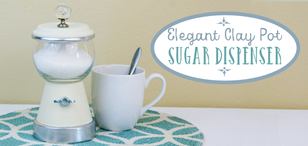Elegant DIY Clay Pot Sugar Dispenser