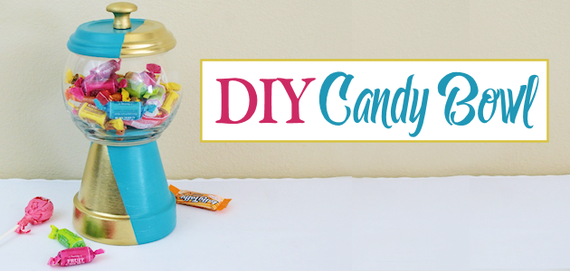 Gold & Teal DIY Gumball Machine For Candy etc.