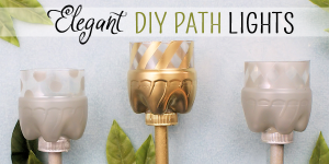 How to Make Your Own Elegant Path Lights from Soda Bottles