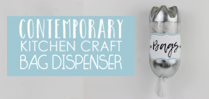 This attractive bag dispenser is from our Contemporary Kitchen Craft set. It's useful, easy to make and a great upcycle project made from a soda bottle.