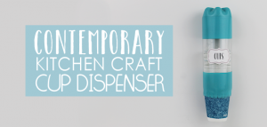 This cup dispenser is part of our matching Contemporary Kitchen Craft series. Hang it anywhere. It works and looks great! Best soda bottle upcycle ever!