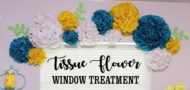 Unique & Simple Tissue Paper Flower Window Treatment Ideas