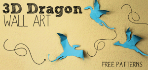 3D Dragon Craft Wall Art