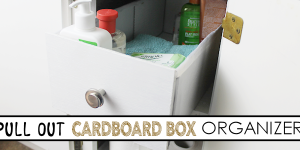 Quick Cardboard Pull Out Cabinet Organizer