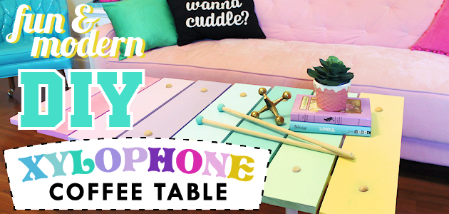 Fun Modern Xylophone DIY Coffee Table