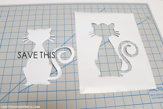 Making Stencils from Contact Paper