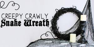 Creepy Crawly DIY Halloween Wreath