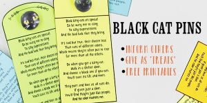 Dispel the Myth! Give Out DIY Lucky Black Cat Charms