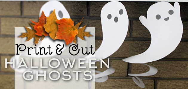Print & Cut Dangling Ghost Halloween Decorations