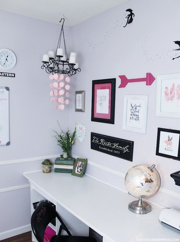 I guarantee you've never seen DIY home office ideas like this! Transform your space into a whimsical place to be and your work vibe will never be the same!