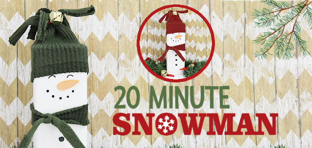 Make a Cute Super Easy 20 Minute Wooden Snowman