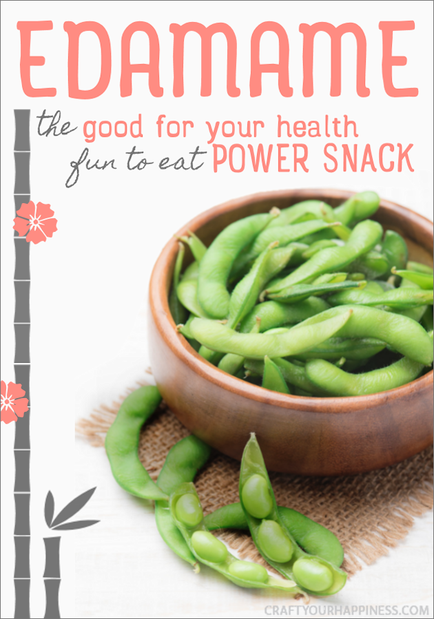 Edamame is a surprisingly quick, delicious and healthy snack that's also fun to eat! Kids will love it too. High in protein and essential vitamins.