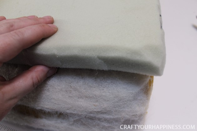 We'll show you how to repair a recliner cushion... the non-removable kind! This one had some doggie damage but you can also recover just for a new look!