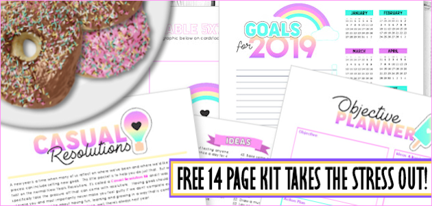 Casual Resolutions Goal Setting Kit 2019 : Create a Life You Love