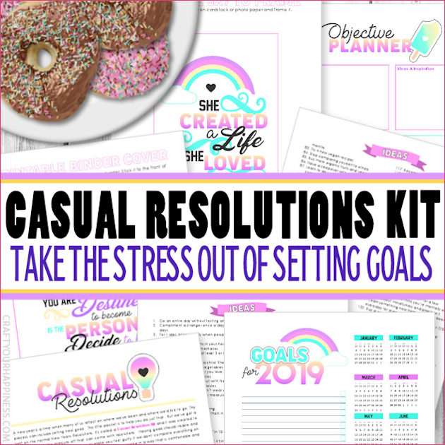 Casual Resolutions Goal Setting Kit 2019