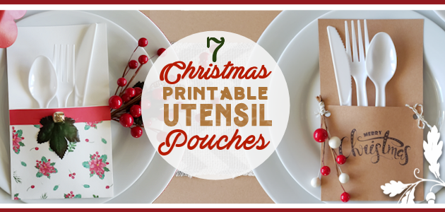 Christmas Printables Utensil Pouches