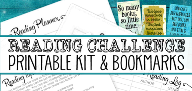 Free Reading Challenge Kit & Bookmarks