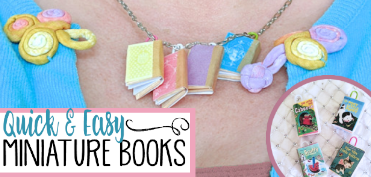How to Make Miniature Books from Craft Sticks Quick & Easy
