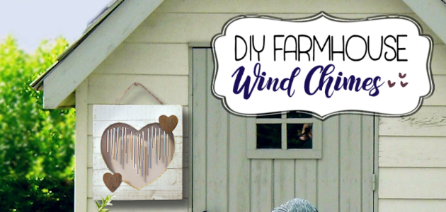Wood Heart DIY Wind Chimes