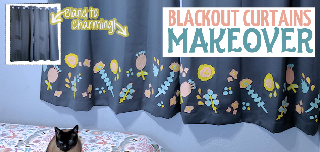 Simple Charming Inexpensive Blackout Curtain Makeover