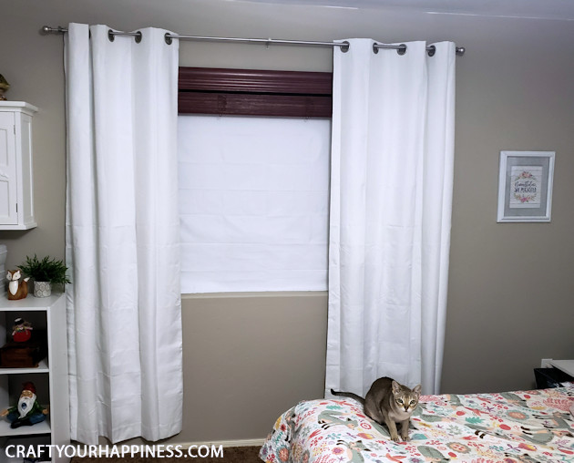 If you need it pitch dark when you sleep you're gonna love these DIY no-sew blackout window inserts! Great for large windows too!