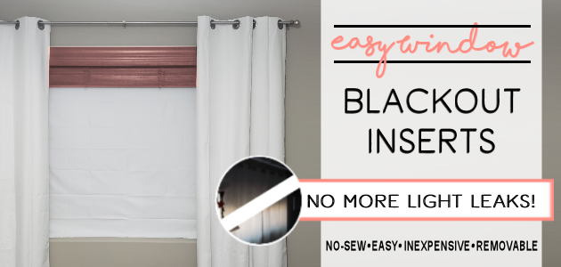 Removable No-Sew Blackout Window Inserts FE