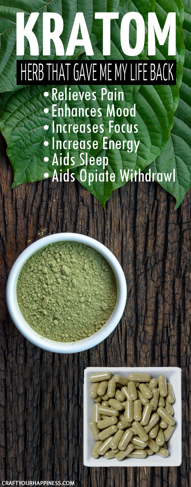 Looking for a natural pain relief supplement that is safe and actually works?  The herb Kratom could be the answer to your prayers for pain and much more.
