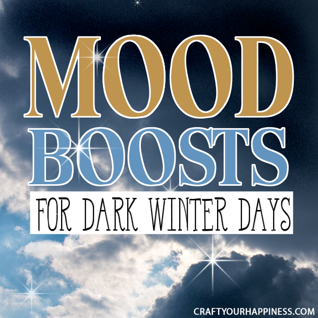 Quick mood boost ideas for dark winter days whether you suffer from seasonal depression, tend to feel down when it's overcast or just need some quick pick me up!