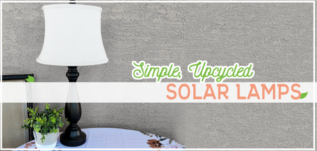 "We'll show you how to turn a candlestick or an old lamp into an indoor solar lamp using these simple directions. It's a great way to be more ""green"" and also save energy!"