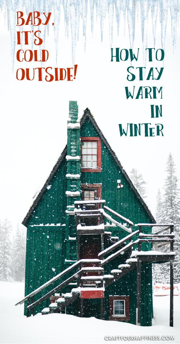 Some tips on How to Stay Warm in the winter months! Sometimes it can be just a matter of some basic changes to help you keep the chill away!