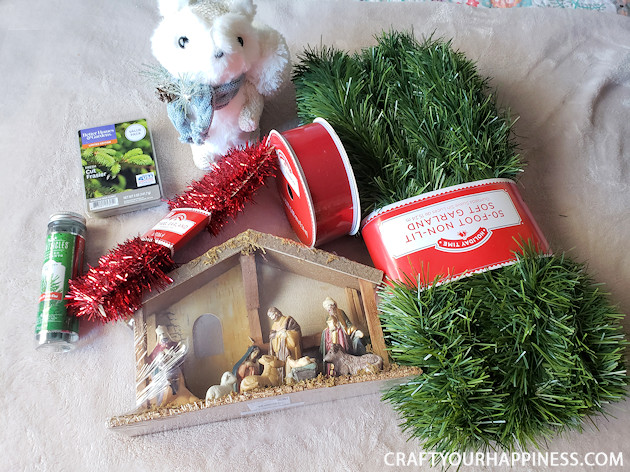 Transform any room using our budget Christmas decorating room makeover ideas using 'mostly' items from the dollar store! Includes awesome projects!