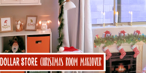 Budget Christmas Decorating Room Makeover