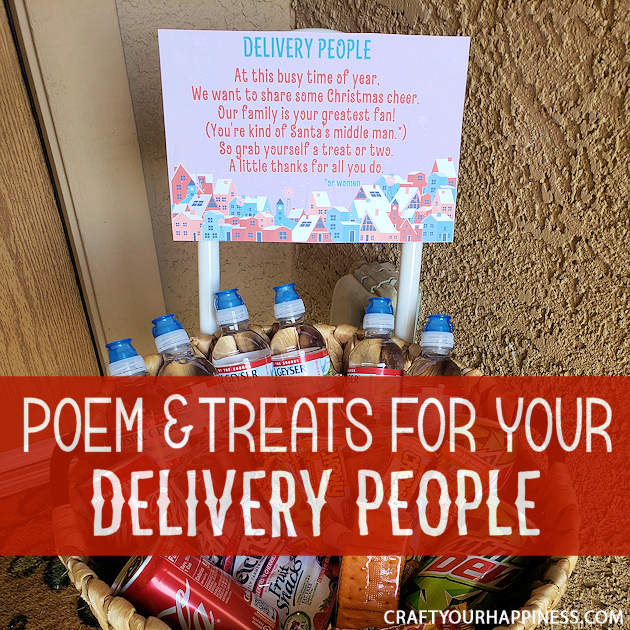At this busy holiday season no one is busier than your local delivery people. It's easy to take them for granted so here's a little way to say thank you